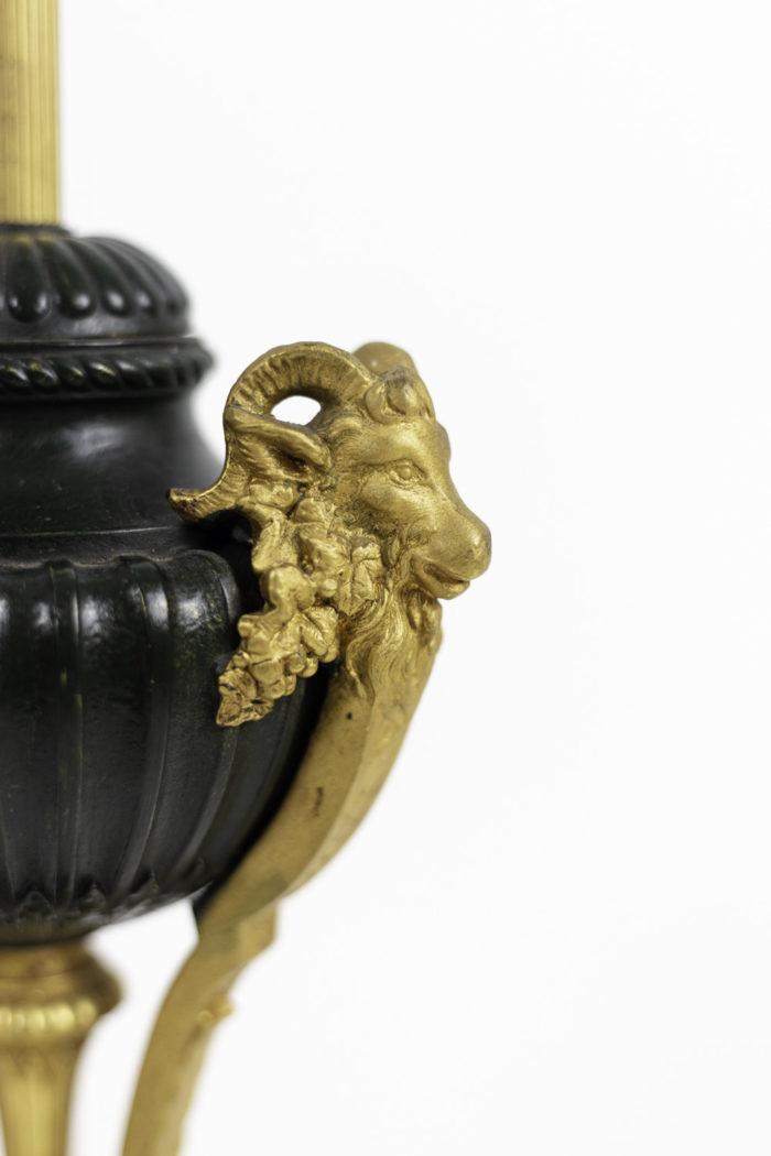 empire style lamp bronze ram