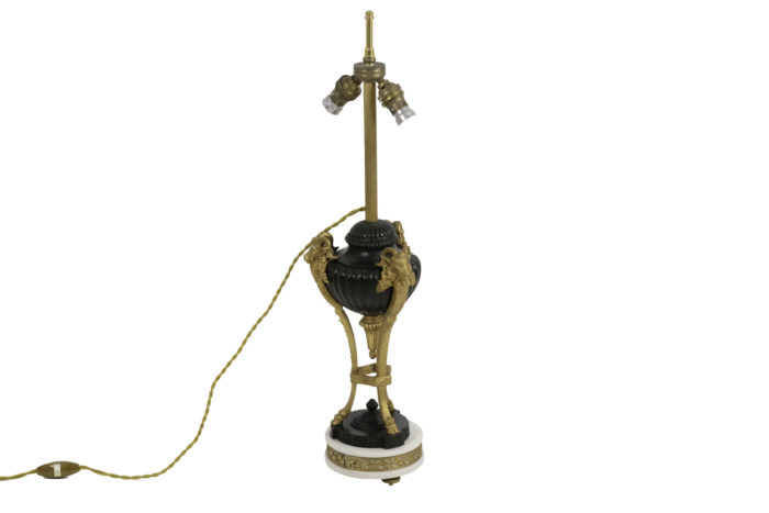 empire style lamp two patinas bronze