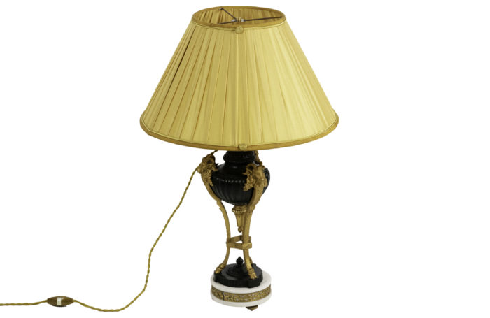 lampe style empire bronze deux patines