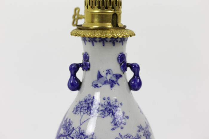 lampes faïence bleu blanc anses