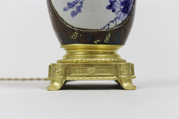 lamps japanese porcelaine gilt bronze base