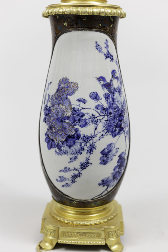 lamps japanese porcelaine flowers decor