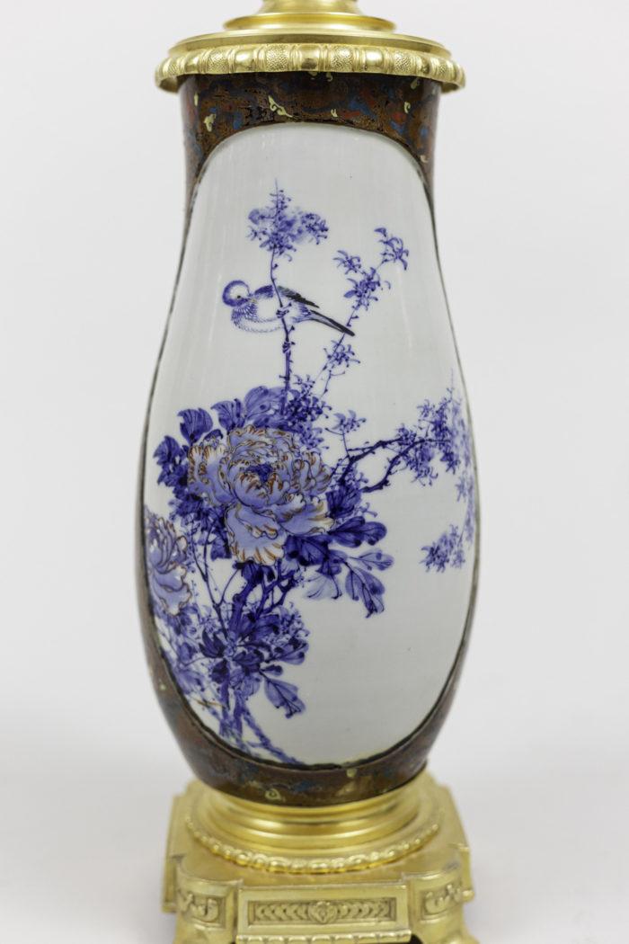 lamps japanese porcelaine peonies decor