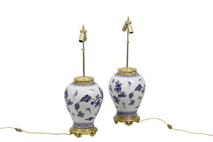 lamps japanese porcelain gilt bronze