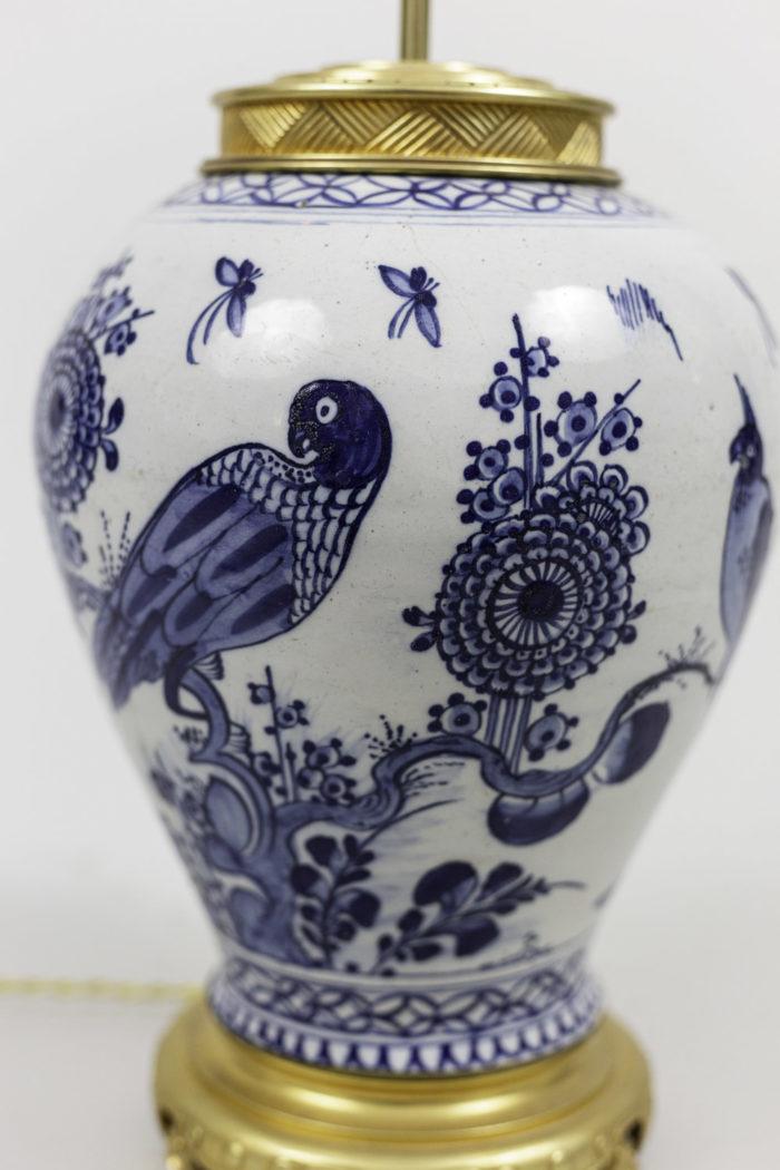 lamps japanese porcelain blue decor