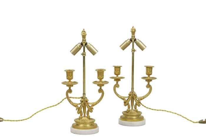 lamps louis xvi style gilt bronze
