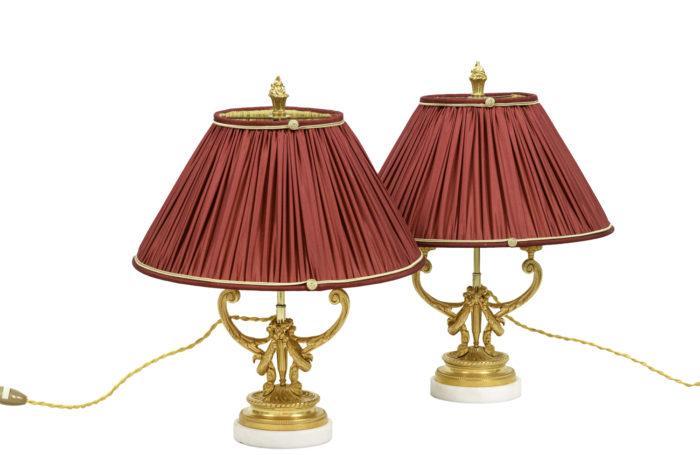 lampes style louis xvi bronze doré