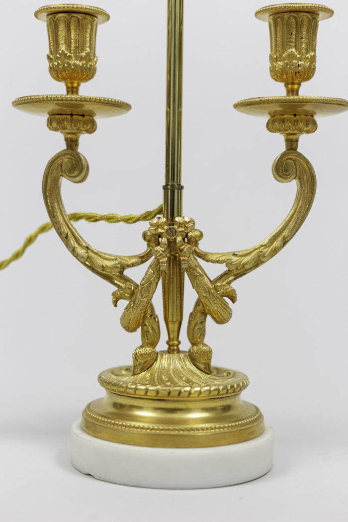 lamps louis xvi style gilt bronze laurel wreath