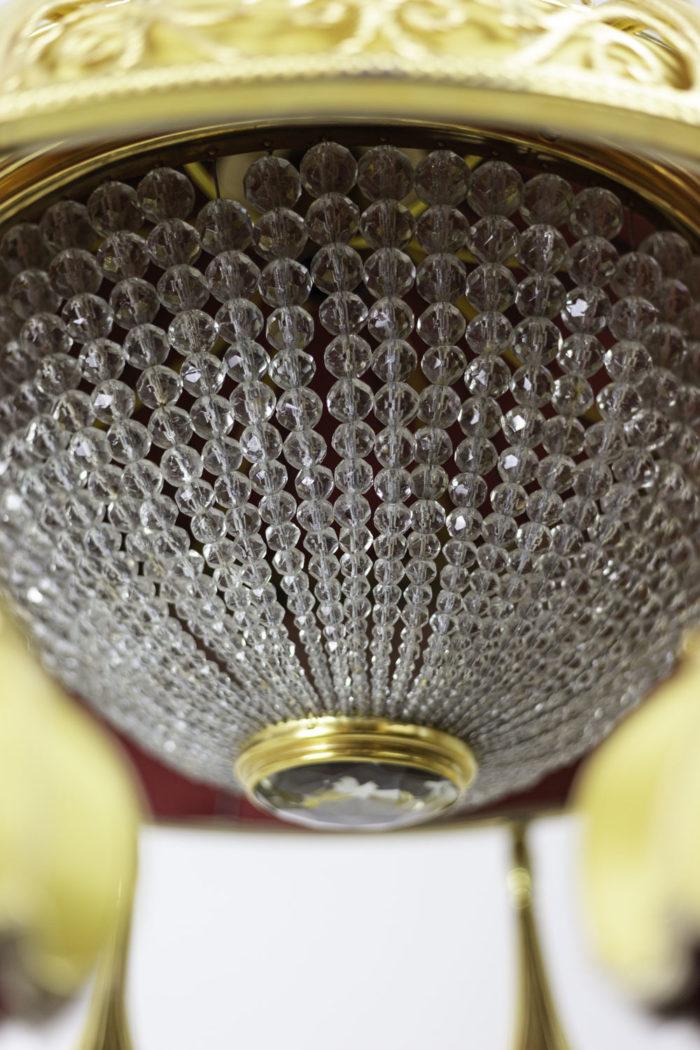 lustre art nouveau demi-sphère verre