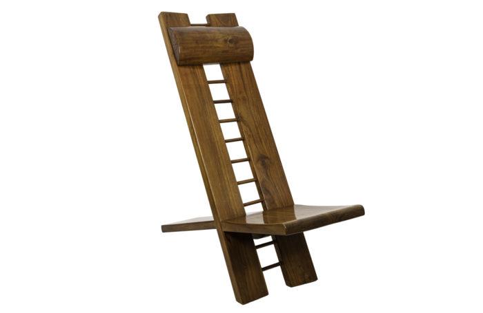 marcel ramond african style armchair