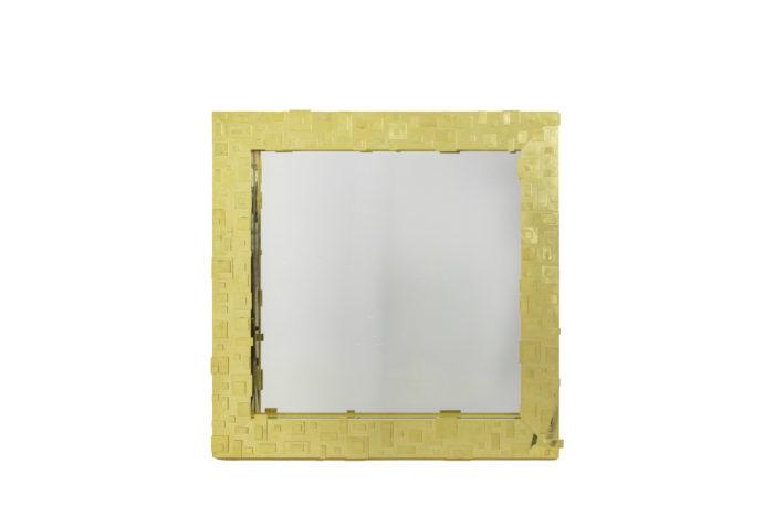 miroir laiton doré décor géométrique