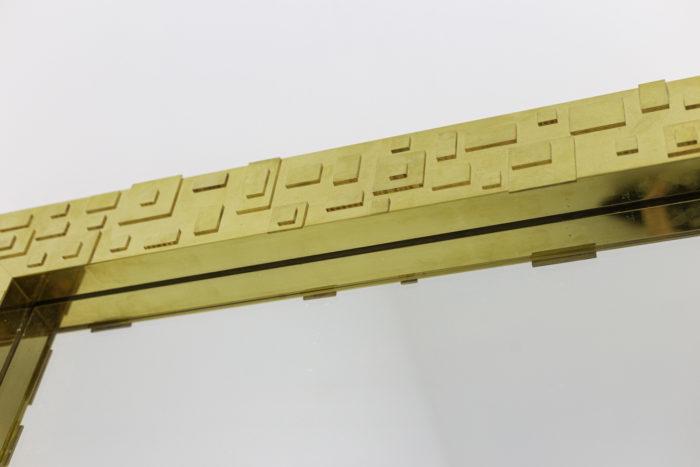 miroir laiton doré décor géométrique haut