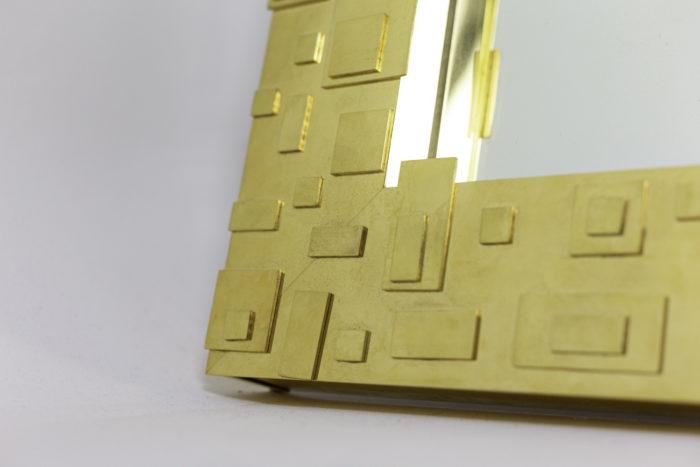 miroir laiton doré décor géométrique plaques