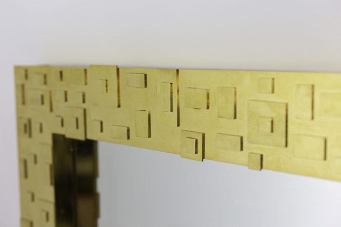 mirror gilt brass geometrical decor top