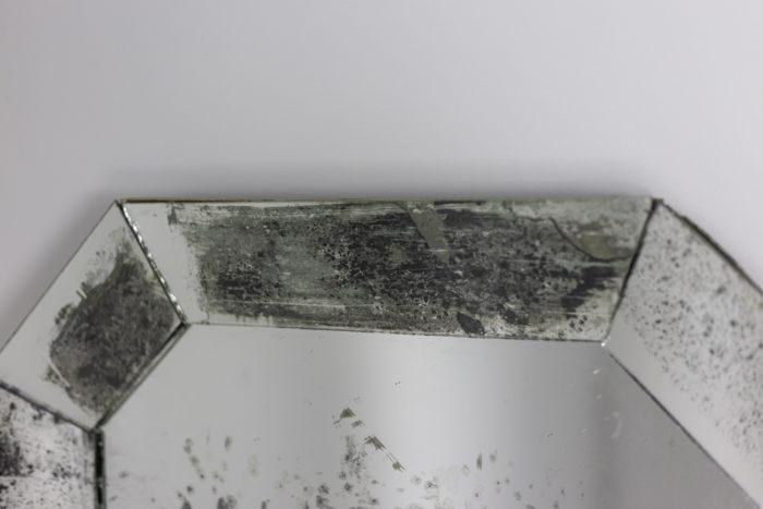 miroir long octogonal oxydé haut