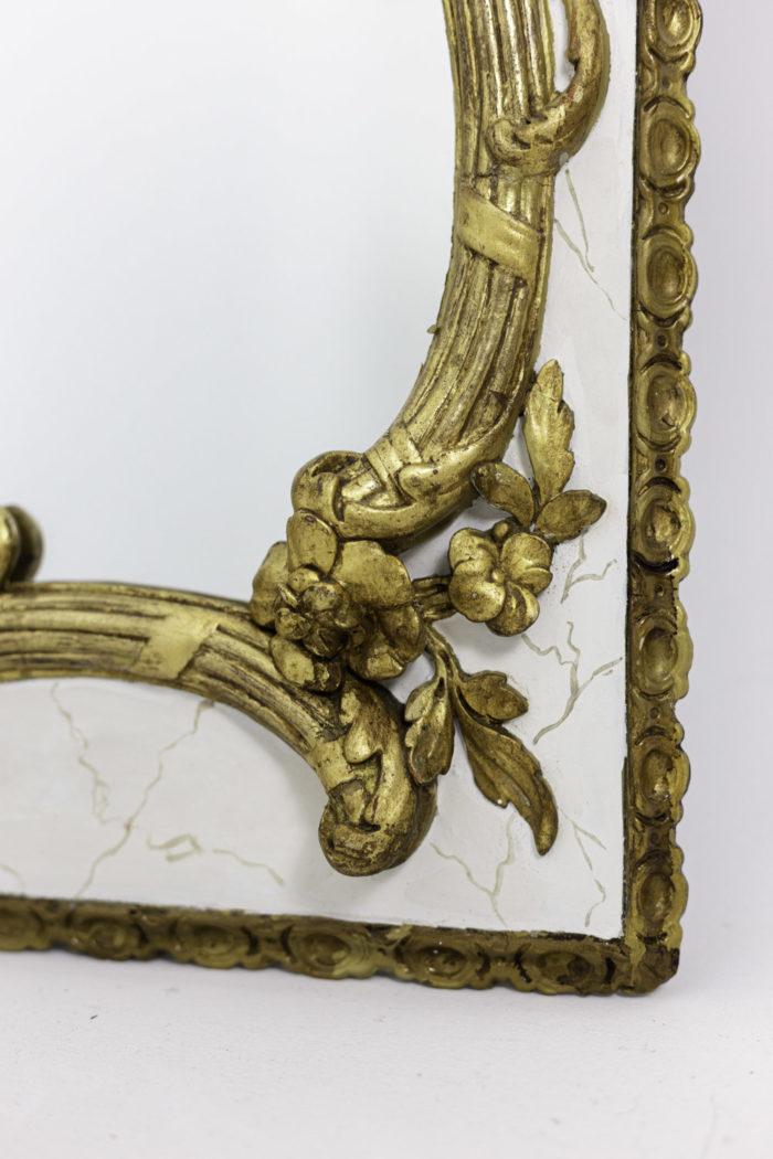 miroir style louis xv fleurs