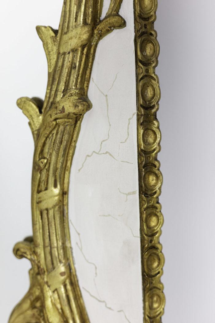 miroir style louis xv joncs enrubannés