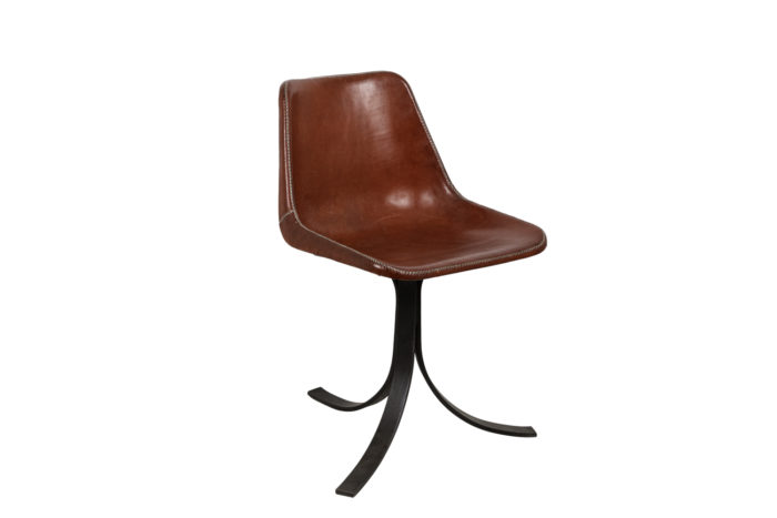 sol&luna chair red leather metal