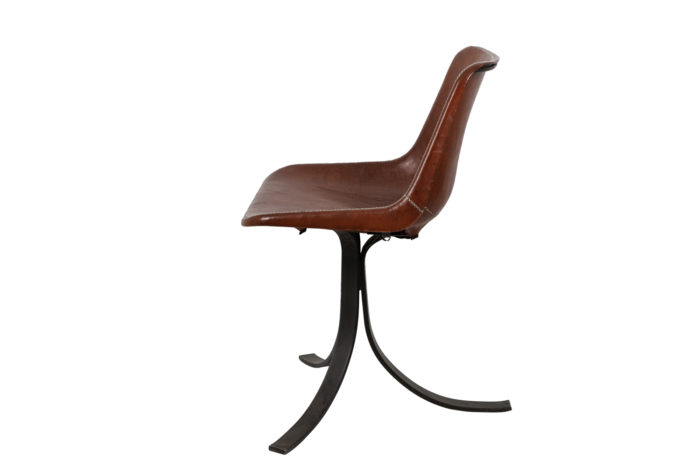 sol&luna chair red leather metal side