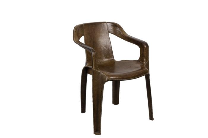 sol&luna fauteuil cuir marron