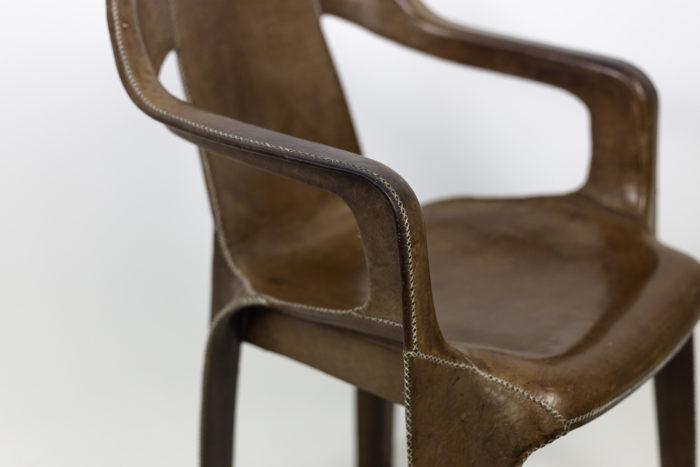 sol&luna fauteuil cuir marron accotoir 2