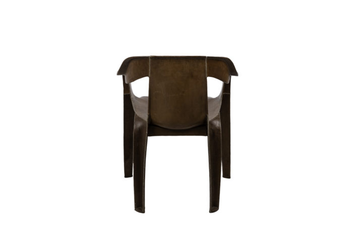 sol&luna armchair brown leather back