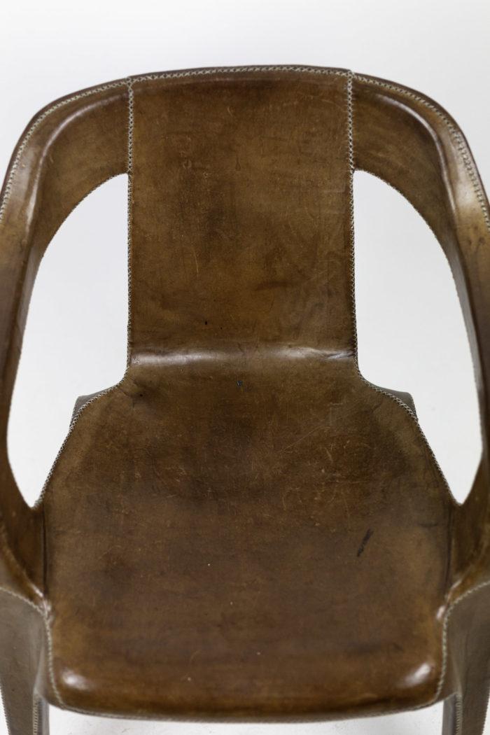 sol&luna fauteuil cuir marron dossier