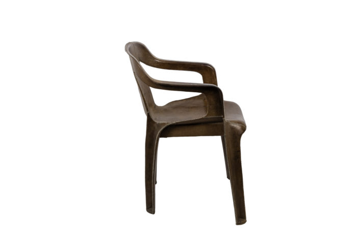 sol&luna armchair brown leather side