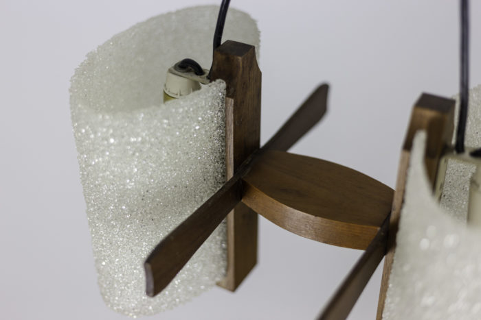 suspension résine granitée base bois