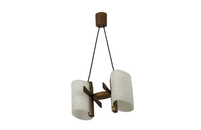 suspension résine granitée bois 1950's