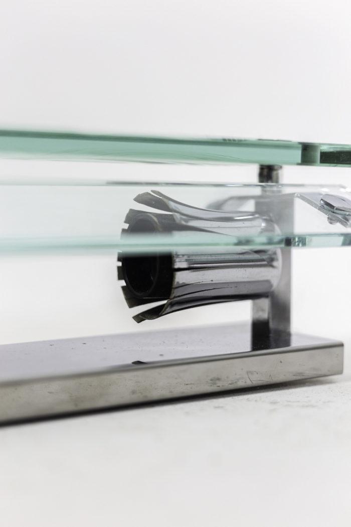 appliques verre métal chromé 2