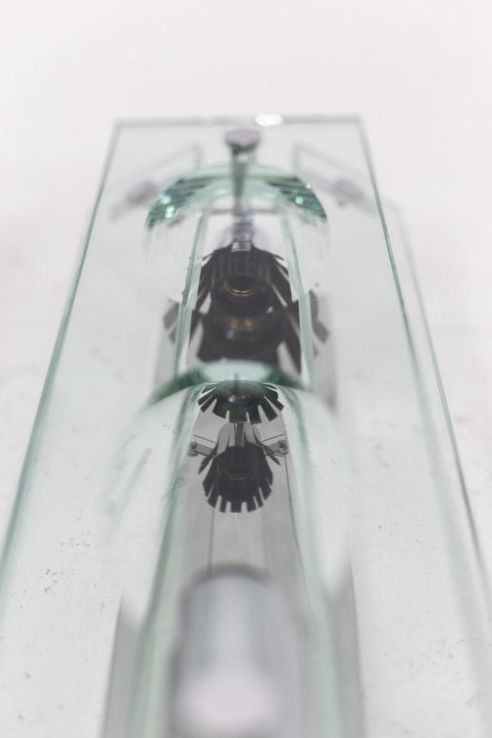 appliques verre métal chromé 3