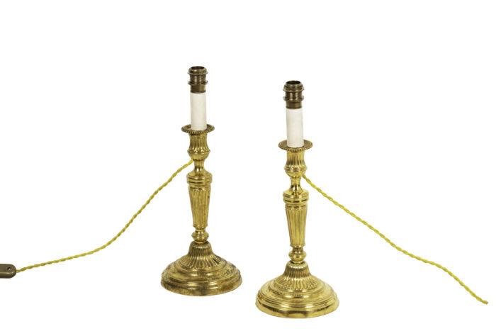 louis xvi style candleholders gilt bronze