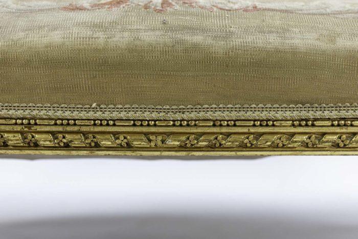 louis xvi style sofa gilt wood aubusson tapestry apron