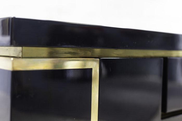 jean-claude mahey enfilade laque noir laiton doré détail