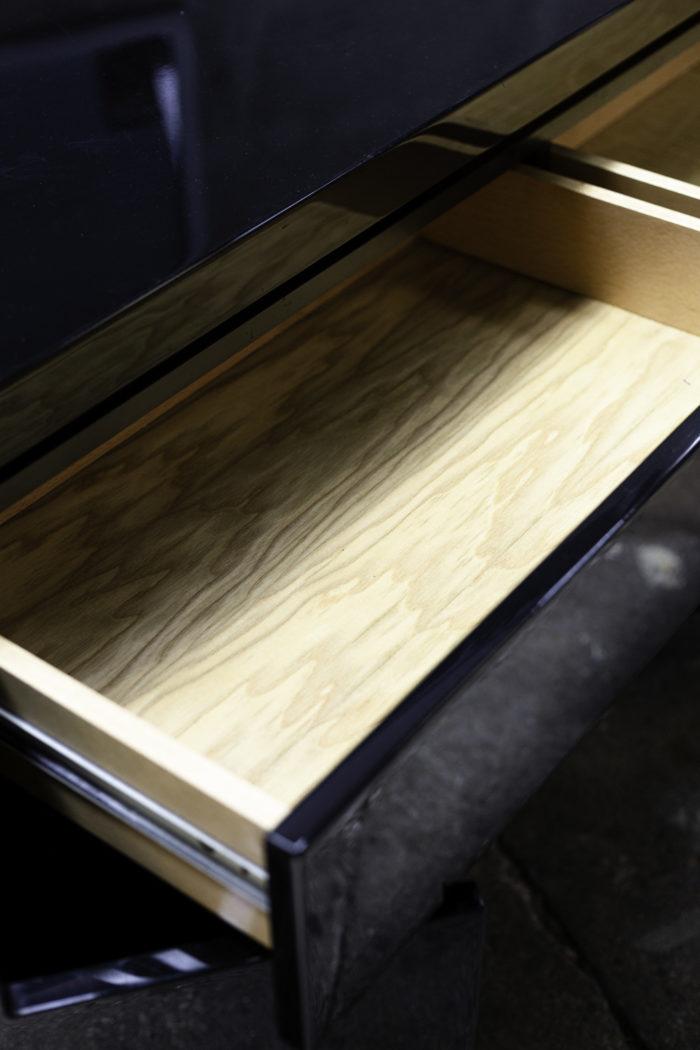 jean-claude mahey enfilade laque noir tiroir