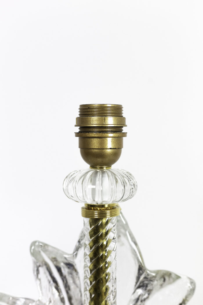 lampes fougère verre murano boule aplatie