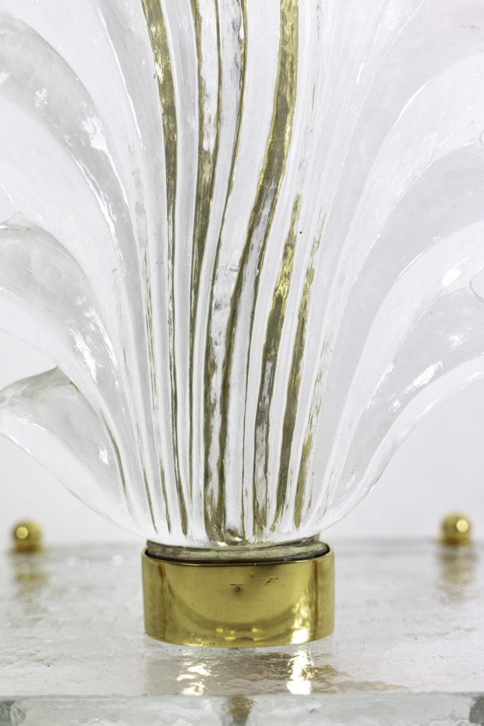 lampes fougère verre murano laiton doré