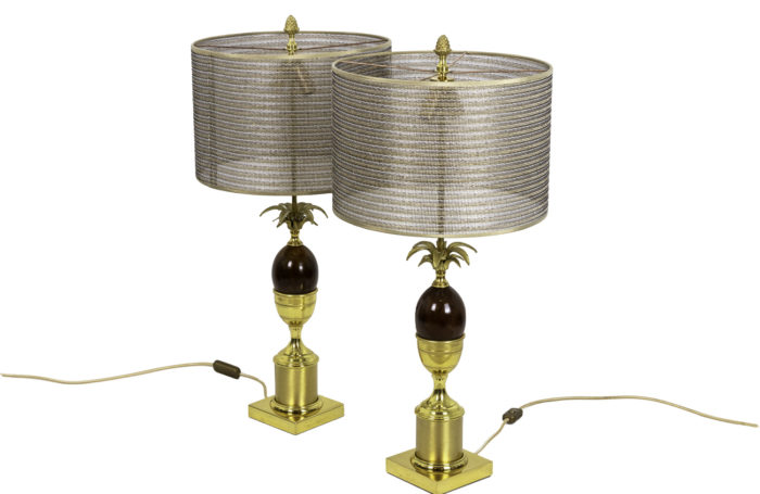 egg lamps bakelite gilt bronze