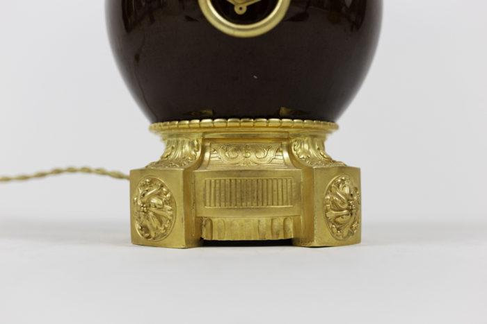 lampes porcelaine sang de boeuf bronze doré base 2