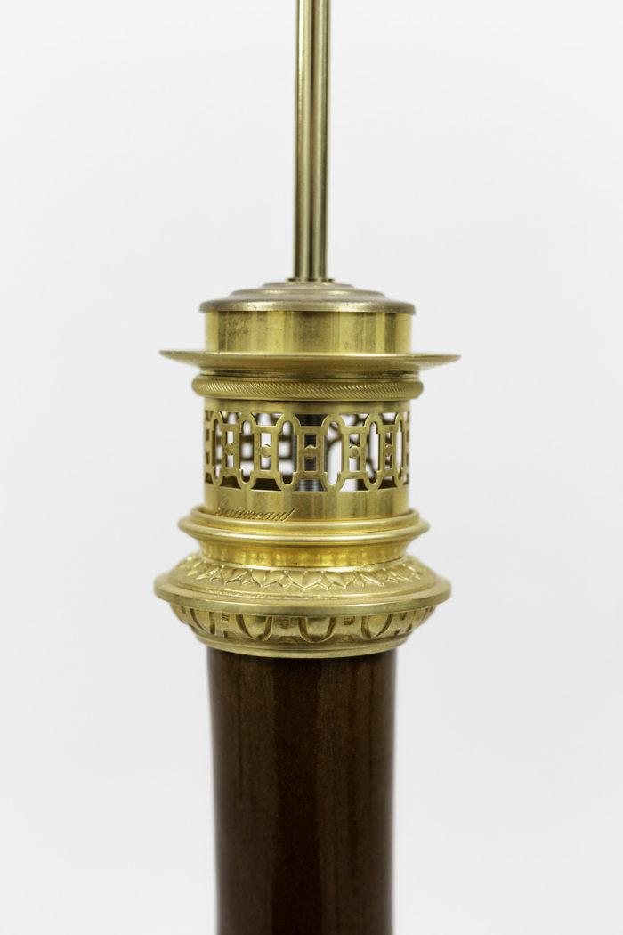 lampes porcelaine sang de boeuf bronze doré monture