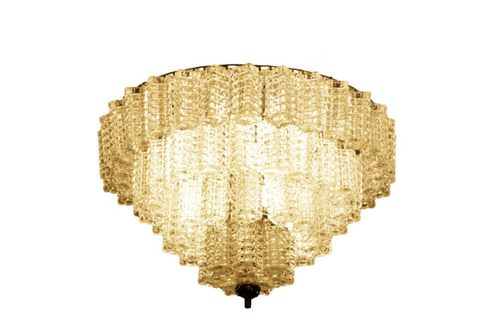 italian chandelier parallelepiped glass