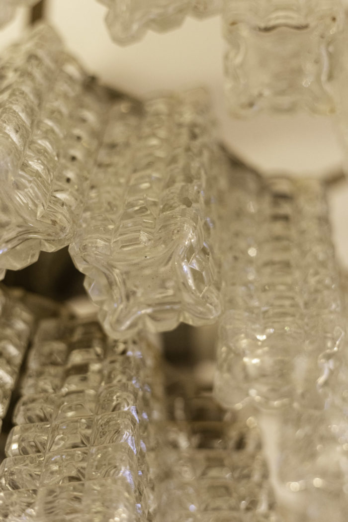 italian chandelier glass rectangular diamond