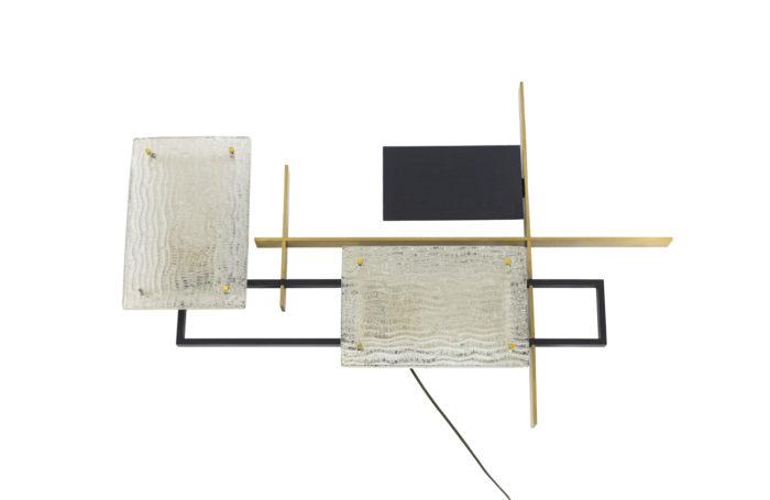 maison arlus applique arles verre métal noir bronze doré