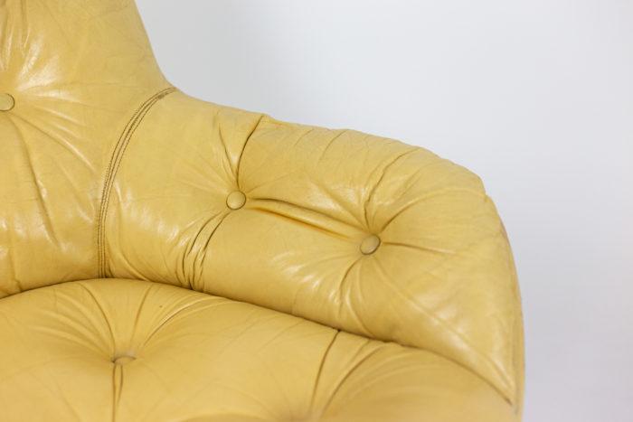michel cadestin fauteuil karaté accotoir cuir matelassé