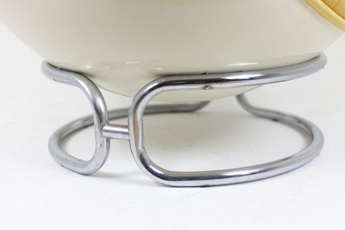 michel cadestin fauteuil karaté pied métal chromé