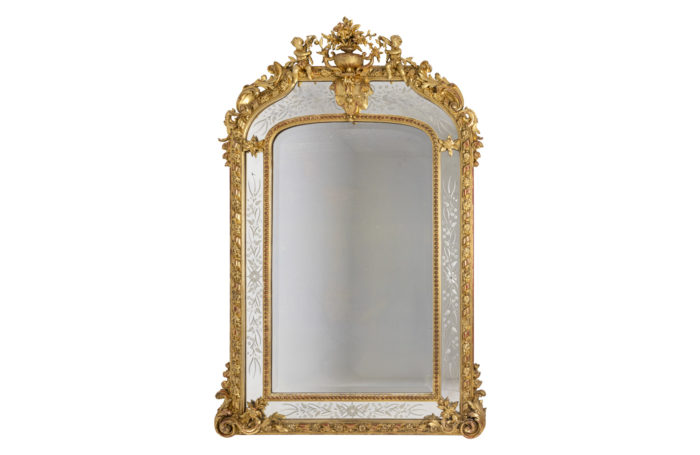 louis xvi style mirror glazing beads gilt wood
