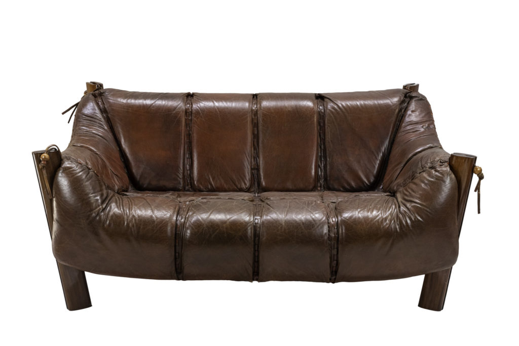 Percival Lafer, Sofa MP-211 in rosewood and leather, 1970's