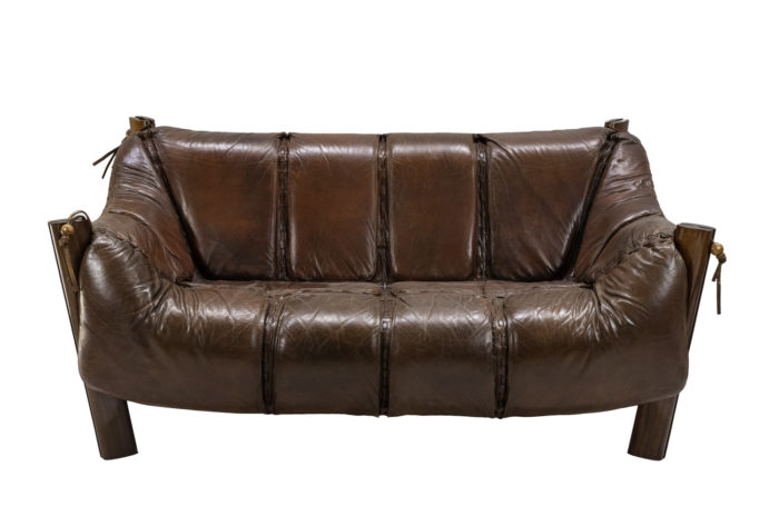 percival lafer sofa MP-211 leather rosewood