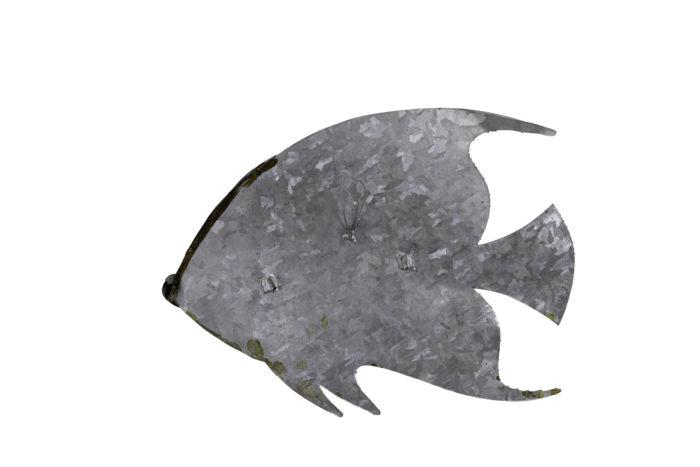 poisson feuilles cuivre étain laiton 1970 dos